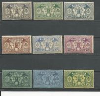 NOUVELLES HEBRIDES Scott A41-A49 Yvert 91-99 (9) *  35,00 $ 1925 - Neufs
