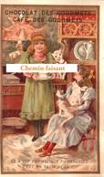 Chromo Chocolat & Café Des GOURMETS - Ce N'est Pas Moi Que Tu Caresses, C'est Ma Tasse De Lait (chat-  Scans Recto Verso - Chocolat