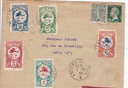 MEETING AVIATION # AMIENS # 1923 # VIGNETTES # SERVICE POSTAL AERIEN # LIGNE LATECOERE - Poststempel (Briefe)