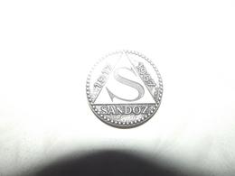 MEDAILLE LABORATOIRES SANDOZ 1917 1967 MEDECINE - Professionnels / De Société
