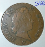 France Rareté ! ♦ Louis XV ♦ 1/2 Sol ♦ 1771 BB ♦ Strasbourg ♦ BRONZE RARE ! - 987-1789 Royal