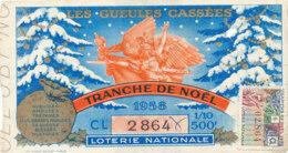 BL 50 / BILLET  LOTERIE NATIONALE   LES GUEULES CASSEES TRANCHE DE  NOEL   1958 - Billets De Loterie