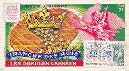 BL 51 / BILLET  LOTERIE NATIONALE   LES GUEULES CASSEES TRANCHE DES ROIS   1976 - Billets De Loterie