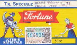 BL 54 / BILLET  LOTERIE NATIONALE  FORTUNE  TRANCHE SPECIALE PAQUES 1965 - Billets De Loterie