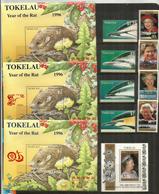 Année 1996. 8  Timbres + 4 Blocs-feuillets  Neufs **   Côte élevée  50,00 Euro - Tokelau