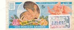 BL 55 / BILLET  LOTERIE NATIONALE  LES GUEULES CASSEES  FETE DES MERES 1976 - Billets De Loterie