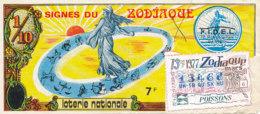 BL 56 / BILLET  LOTERIE NATIONALE  SIGNES DU ZODIAQUE  1977 - Billets De Loterie