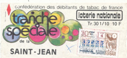 BL 59 / BILLET  LOTERIE NATIONALE   TRANCHE  SPECIAL DE LA SAINT JEAN 1978 - Billets De Loterie
