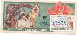BL 60 / BILLET  LOTERIE NATIONALE  LES GUEULES CASSEES  1976 - Billets De Loterie