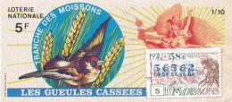 BL 61 / BILLET  LOTERIE NATIONALE  LES GUEULES CASSEES  TRANCHES DES MOISSONS  1976 - Billets De Loterie