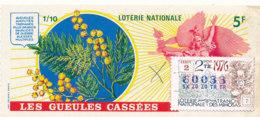 BL 62 / BILLET  LOTERIE NATIONALE  LES GUEULES CASSEES   1976 - Billets De Loterie