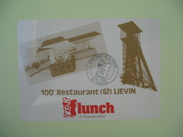 Carte Flunch 1987  - 100 ème Restaurant 62 Lievin - Hoteles & Restaurantes
