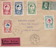 MEETING AVIATION # AMIENS # 1923 # VIGNETTES # SERVICE POSTAL AERIEN # VOL LATECOERE - Marcophilie (Lettres)