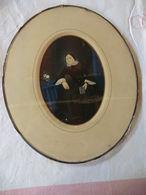 Gouache De Félix Buhot 1847-1898 Représentant Une Femme Tenant Un Missel - - Gouaches