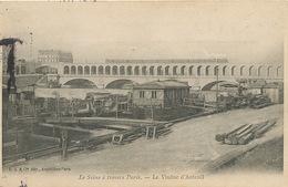 Train Sur Le Viaduc D' Auteuil Seine à Travers Paris LJC Taxée à Buzançais Indre - Trains