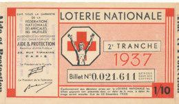 BL 81 / BILLET  LOTERIE NATIONALE   AMICALES DES MUTILES  2 EME TRANCHE  1937 - Billets De Loterie