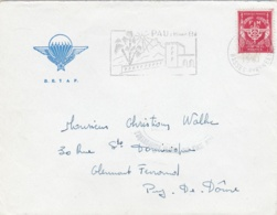 FM 12  Sur Lettre  à Entête Du B. E. T. A. P.  De Pau - Franchise Militaire (timbres)