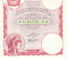 BL 84 / BILLET  LOTERIE NATIONALE    2EME TRANCHE  1933 - Billets De Loterie