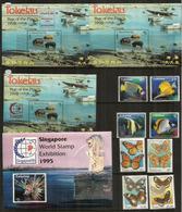 Année 1995. 8  Timbres + 4 Blocs-feuillets  Neufs **   Côte élevée  60,00 Euro - Tokelau