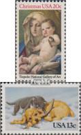 USA 1606,1611 (kompl.Ausg.) Postfrisch 1982 Weihnachten, Kätzchen Und Hündchen - Vereinigte Staaten