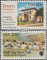 USA 1598,1599 (kompl.Ausg.) Postfrisch 1982 Touro-Synagoge, Washington - Vereinigte Staaten