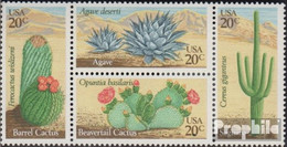 USA 1517-1520 Viererblock (kompl.Ausg.) Postfrisch 1981 Wüstenpflanzen - Vereinigte Staaten