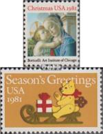 USA 1513-1514 (kompl.Ausg.) Postfrisch 1981 Weihnachten - Vereinigte Staaten