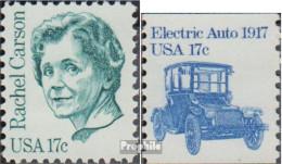 USA 1489,1492y (kompl.Ausg.) Postfrisch 1981 Persönlichkeiten, Fahrzeuge - Vereinigte Staaten