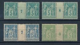 """CP-155: FRANCE: Lot Avec """"SAGE """"   N°75*( Mill 7 Et 8)-101*-102* - Millésimes"""