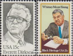 USA 1455,1456 (kompl.Ausg.) Postfrisch 1981 Everett Dirksen, Young - Vereinigte Staaten