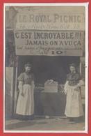 COMMERCE --  CARTE PHOTO - RARE - Magasiin - Le Royal Picnic - 78 Rue Pouchet Paris - Magasins