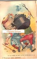 TOP Chromo !!! Chocolat De L'UNION - L'esprit Des Choses : Pot De Terre & Pot De Fer -  Scans Recto Verso - Chocolat
