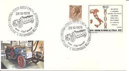 """ITALIA - 1978 ARESE (MI) Mostra Filatelica """"l'automobile Nel Francobollo"""" Alfa Romeo 24 HP - Automobili"""