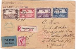 RARE + + / PAR AVION / DURCH FLUGPOST /RECOMMANDE / LUXEMBOURG / EINSCHREIBEN LUFTPOST 1923 - Lettres & Documents