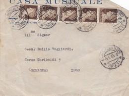 BUSTA VIAGGIATA - LANCIANO ( CHIETI) CASA MUSICALE, DITTA E.O. MARI -VIAGGIATA PER LUGO (RAVENNA) - 1900-44 Vittorio Emanuele III