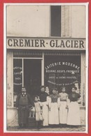 COMMERCE --  CARTE PHOTO - RARE - Magasiin - Cremier - Glacier - Magasins