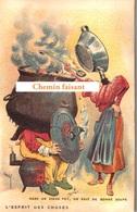 TOP Chromo !!! Chocolat De L'UNION - L'esprit Des Choses : Vieux Pot Et Bonne Soupe-  Scans Recto Verso - Chocolat