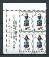 ESPAÑA 1970 - ED. 1950 ** TRAJES PONTEVEDRA BL.4 - 1931-Aujourd'hui: II. République - ....Juan Carlos I