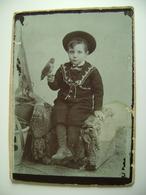 BARI   FOTO  Bambino  Kind  Fotografo  Guerra        13  X 9,5  Cm   SU CARTONCINO ARCH 157 - Foto