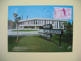 Carte Maximum 1989  N° 100  Conseil De L'Europe  Strasbourg - Cartes-Maximum