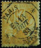 -Sage N°92 Type II PARIS-DEPART 13 Aôut 1883.  ( Cachet Octogonal ) Second Choix.( Recto/verso) - 1876-1898 Sage (Type II)