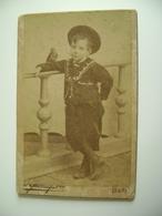 BARI   FOTO  Bambino  Kind  Fotografo  Guerra        12,5  X  8  Cm   SU CARTONCINO ARCH 157 - Foto