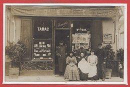COMMERCE --  CARTE PHOTO - RARE - Café De La Gare MAUVILLIER - Cafés