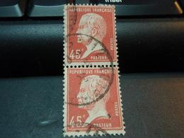 2 Timbres Pasteur 45 Centimes Oblitérés - 1922-26 Pasteur