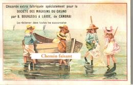 Chromo GUICHARD-PERRACHON CASINO St-Etienne 42 - Pêche à La Plage  -  Scans Recto Verso - Autres