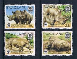 Swaziland 1987 Tiere/Nashorn Mi.Nr. 528/31 Kpl. Satz ** - Swaziland (1968-...)