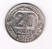 20 KOPEK  1946  CCCP  RUSLAND /2453/ - Russland