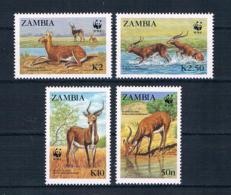 Zambia 1987 Tiere Mi.Nr. 438/41 Kpl. Satz ** - Zambie (1965-...)