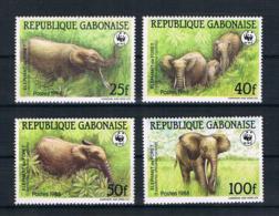 Gabun 1988 Tiere Mi.Nr. 1009/12 Kpl. Satz ** - Gabun (1960-...)