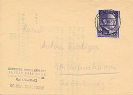 KRAKAU - 1944 ,  Buchhandlung - Nachricht über Briefmarkenkatalog Nach Wilhelmshaven - Besetzungen 1938-45